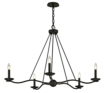 Amazon.com: Sawyer lámpara de araña – Acabado de hierro ...