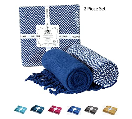 Throw Blankets Enchanting Amazon 60% Soft Cotton Chevron Throw Blankets Set Of 60