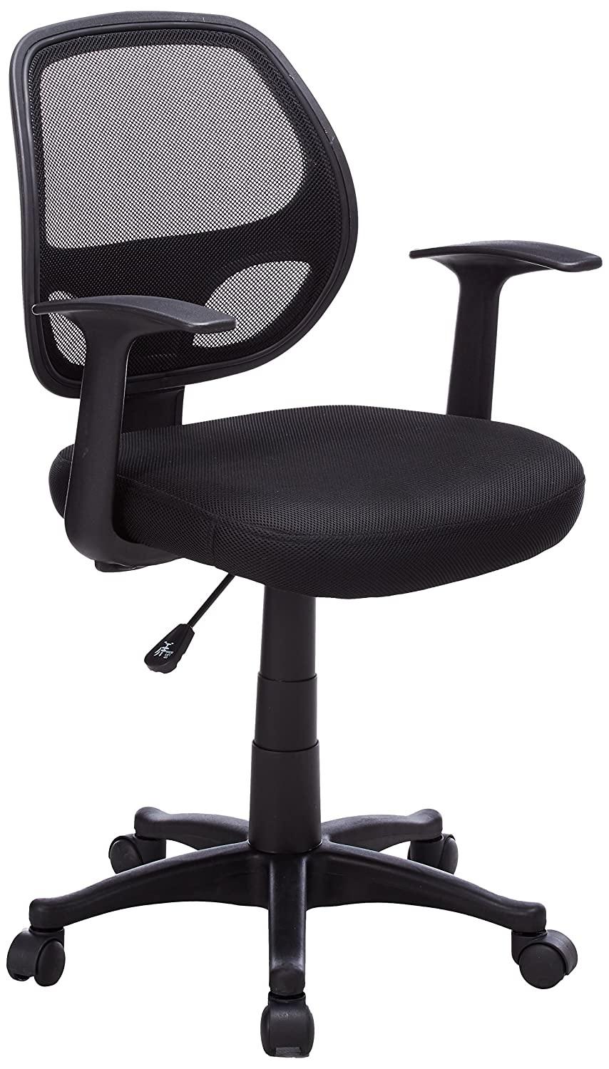 Baseball desk chair - Amazon Com Flash Furniture Mid Back Black Mesh Swivel Task Chair With Arms Kitchen Dining