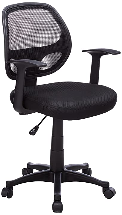 flash furniture midback black mesh swivel task chair with arms