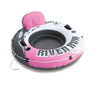 Intex River Run I Inflatable Water Lounge Tube 1-Person, Pink | 58828EP