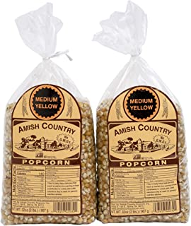 product image for Amish Country Popcorn | 2 - 2 lb Bags | Yellow Popcorn Kernels | Old Fashioned with Recipe Guide