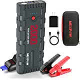 NEXPOW 2000A 18000mAh Car Jump Starter with USB Quick Charge 3.0 (Up to 7.0L Gas or 6.5L Diesel Engine), 12V Portable Battery Starter, Battery Booster with Built-in LED Light