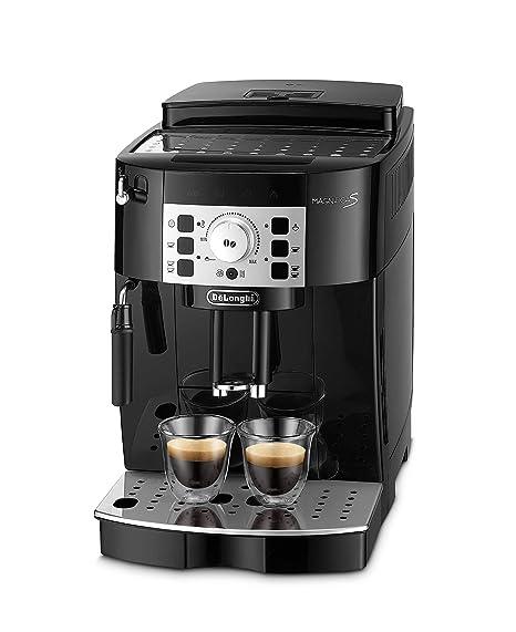 Delonghi Magnifica S Ecam 22.110.B - Cafetera superautomática, 15 bares de presión, 13 programas ajustables, auto-limpieza, sistema cappuccino, negra