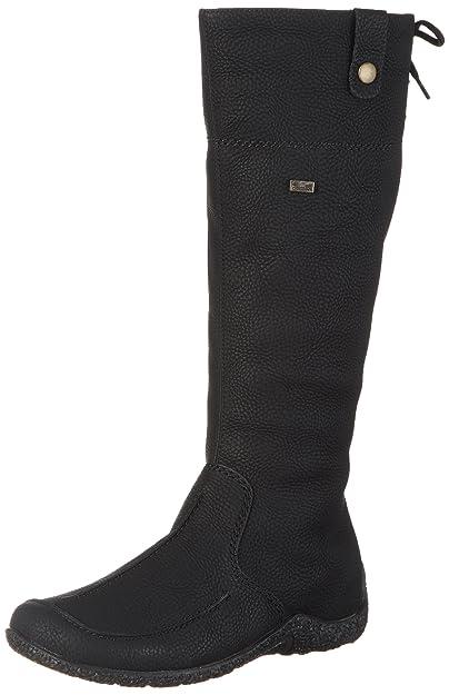 Knee High Boots RIEKER Z7391 01 Schwarz