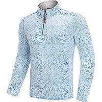 MAGCOMSEN Men's Fall Winter 1/4 Zip Sherpa Pullover Sweater Fleece Jacket with Pockets
