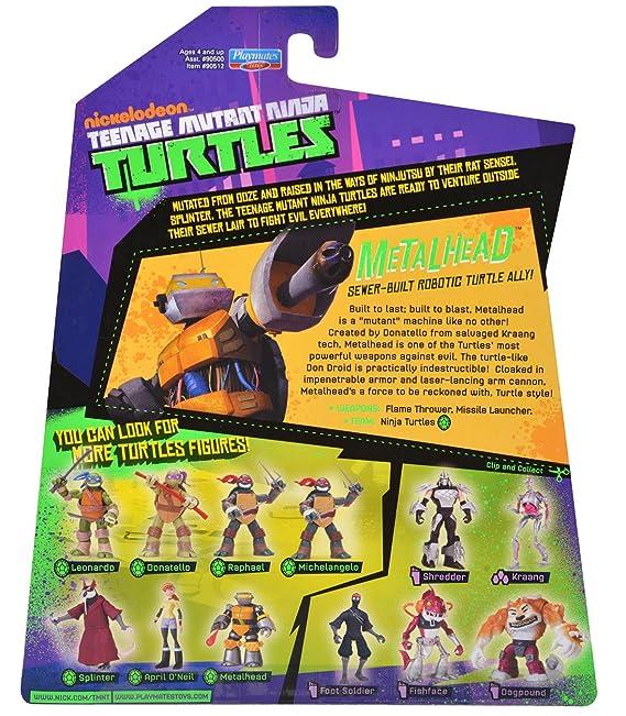 Amazon.com: Teenage Mutant Ninja Turtles Metalhead Figura de ...