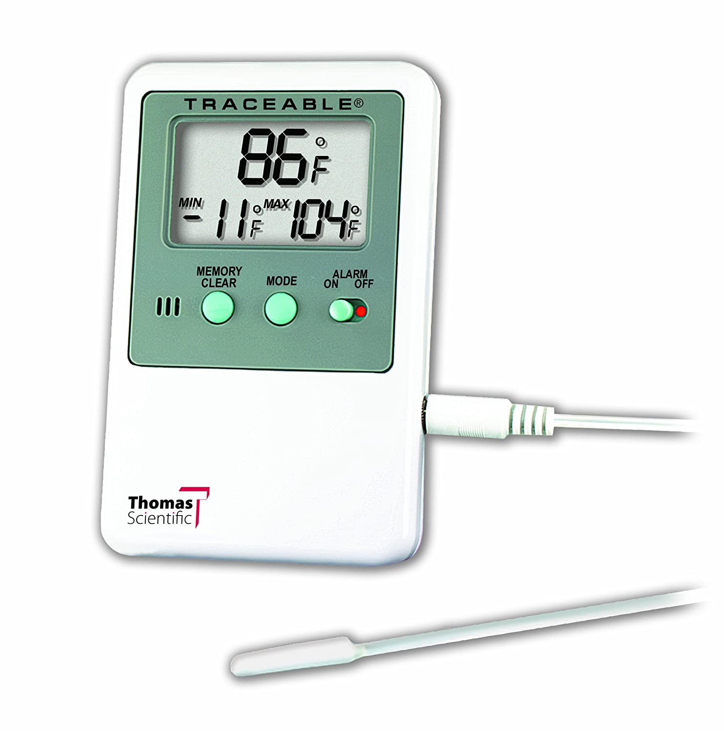 "Thomas 8601 Temperature Alarm with 0.5"" High Display, + or -1 degree accuracy, -58 to 158 degree F, -50 to 70 degree C"