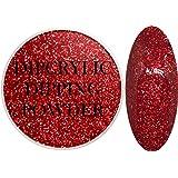 SHEBA NAILS Dipcrylic Glitter Dip Dipping Powder SPARKLING RED - 1oz Jar