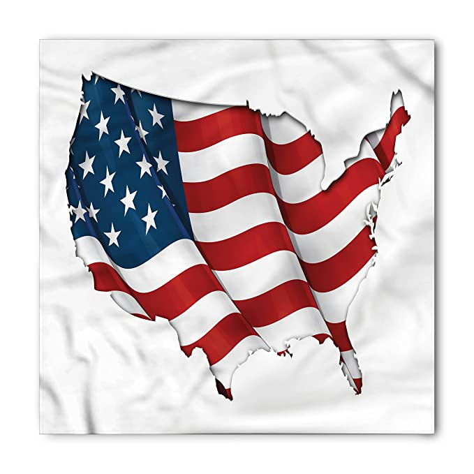 Amazon world map bandana by ambesonne graphic united states world map bandana by ambesonne graphic united states flag american federations stars national symbol print gumiabroncs Images