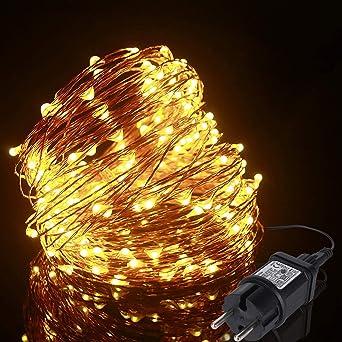 Lichterkette 200 LEDs warmweiß innen und außen