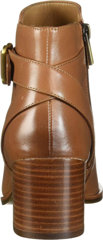 Aerosoles Women's Maggie Ankle Boot Dark Tan Leather