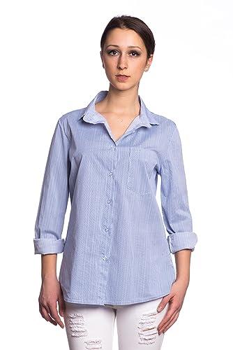 Abbino 215205 Blusas Tops para Mujeres - Hecho en ITALIA - 2 Colores - Entretiempo Primavera Verano ...