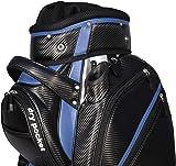 Hippo Golf Cart Bag Bag Waterproof Material And Dry Pocket - BLACK/BLUE