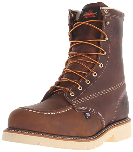 "Thorogood 804-4378 Men's American Heritage 8"" Moc Toe MAXWear 90 Safety Toe"