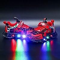 Barn LED upplysbara träningsskor blinkande skor pojkar flickor spindelskor ledig lätt andningsbara sneaker(Size:23,Color…