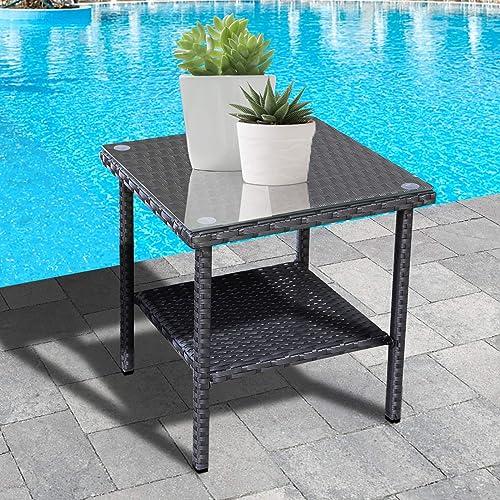Outdoor PE Wicker Side Table