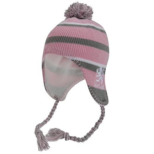37e5b856 Scotland Ladies/Womens Lion Pink Winter Hat, Thermal Peruvian Hat with  Tassels