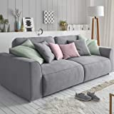 3 3 modernes schlafsofa g steschlafcouch jugendschlafsofa bezug grau im sitz. Black Bedroom Furniture Sets. Home Design Ideas