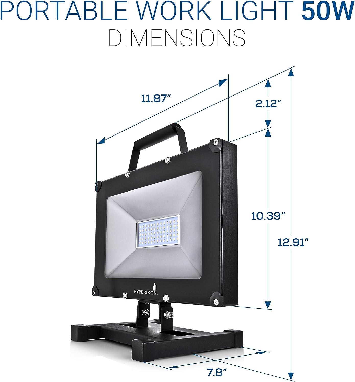 Adjustable light with Plug Hyperikon 30W LED Work Light Portable Fixture 5000K