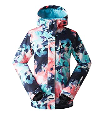 aab2123cb1 GSOU Snow Women s Ski Jacket Windproof Waterproof Snowboarding Jacket for  Women Snow Suit Colorful Ski Clothes