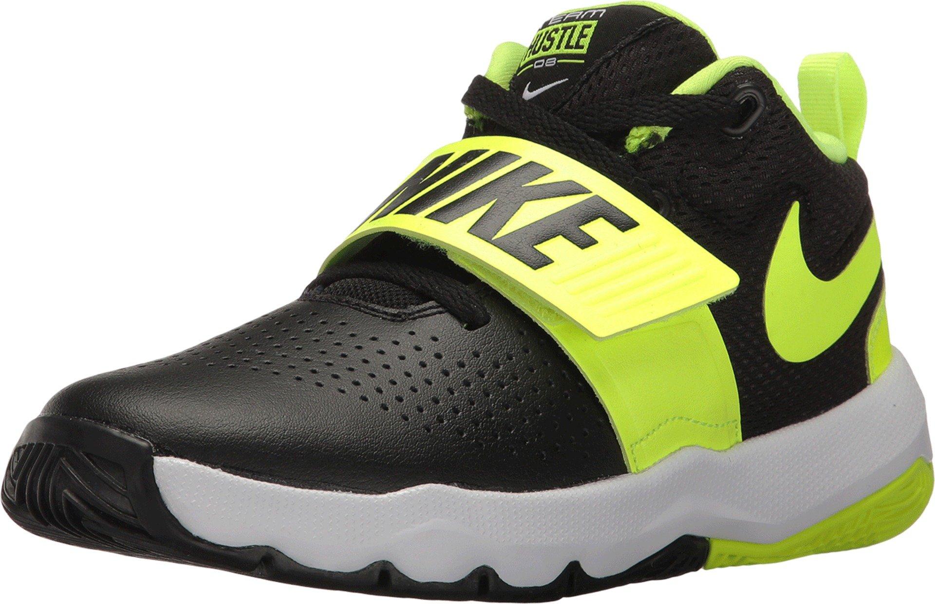 69037e9378828 Galleon - Nike Kids' Preschool Team Hustle D 8 Basketball Shoes (12K,  Black/Volt-M)