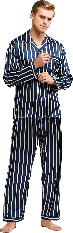 Tony /& Candice Mens Classic Satin Pajama Set
