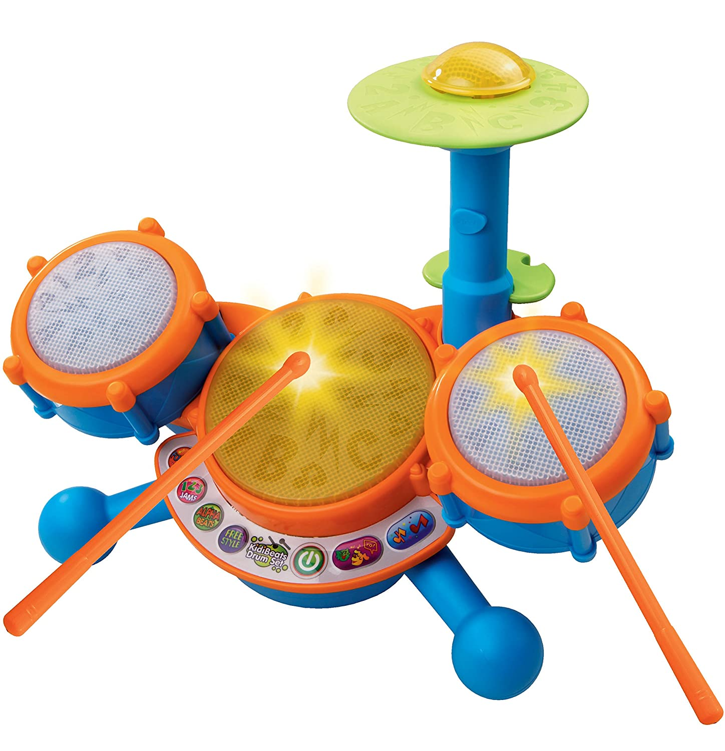 Amazon VTech KidiBeats Kids Drum Set Toys & Games