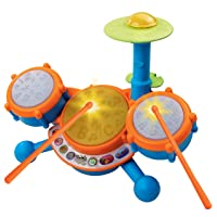 VTech KidiBeats Kids Drum Set, Great Gift For Kids, Toddlers, Toy for Boys and Girls, Ages 2, 3, 4, 5