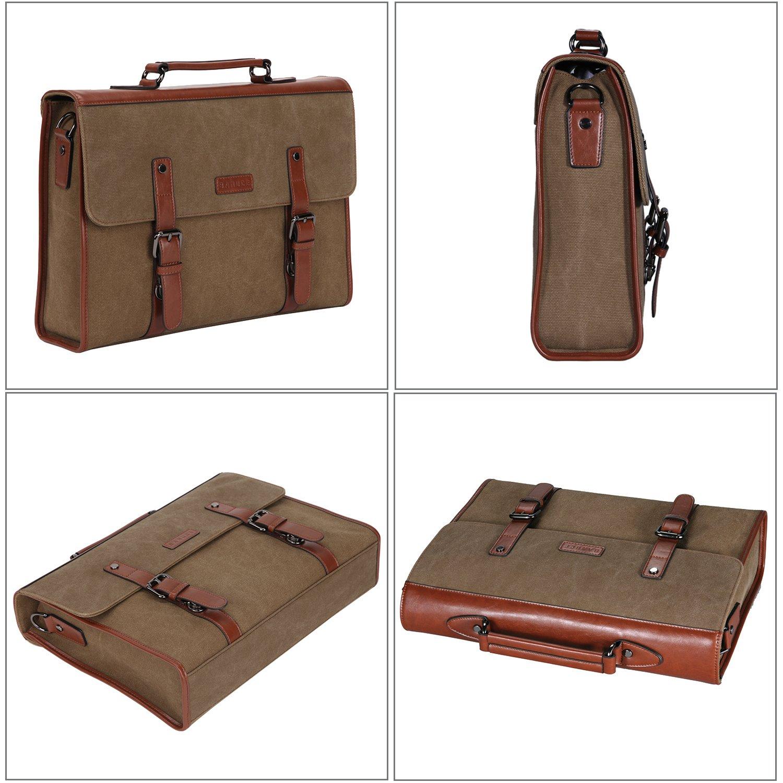 Banuce 13.3 inch Laptop Messenger Bag for Men Vintage Canvas Tote Briefcase Satchel Shoulder Bag by Banuce (Image #3)