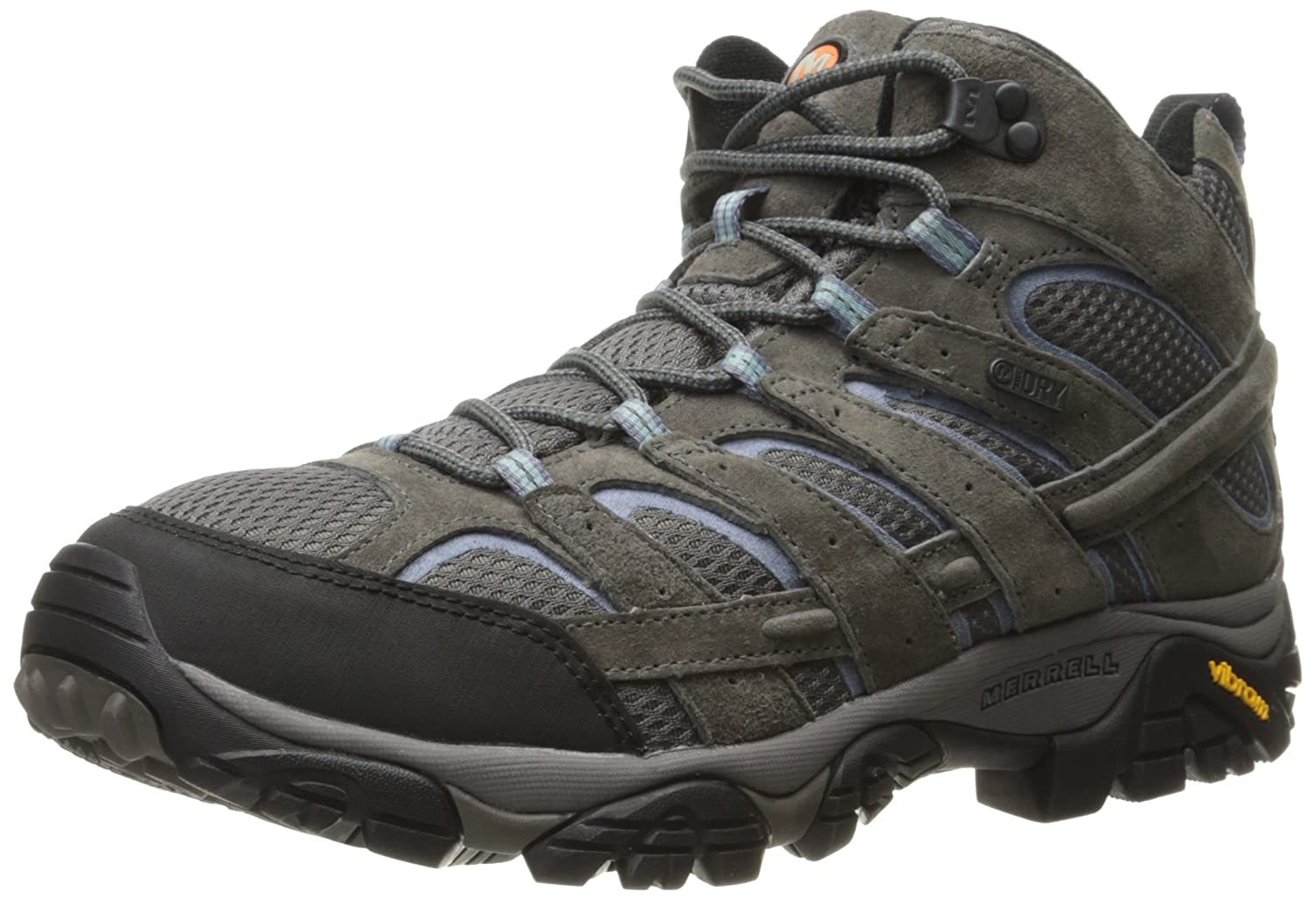 Merrell Women's Moab 2 Mid Waterproof Hiking Boot B01HFL9IA4 6 W US|Granite