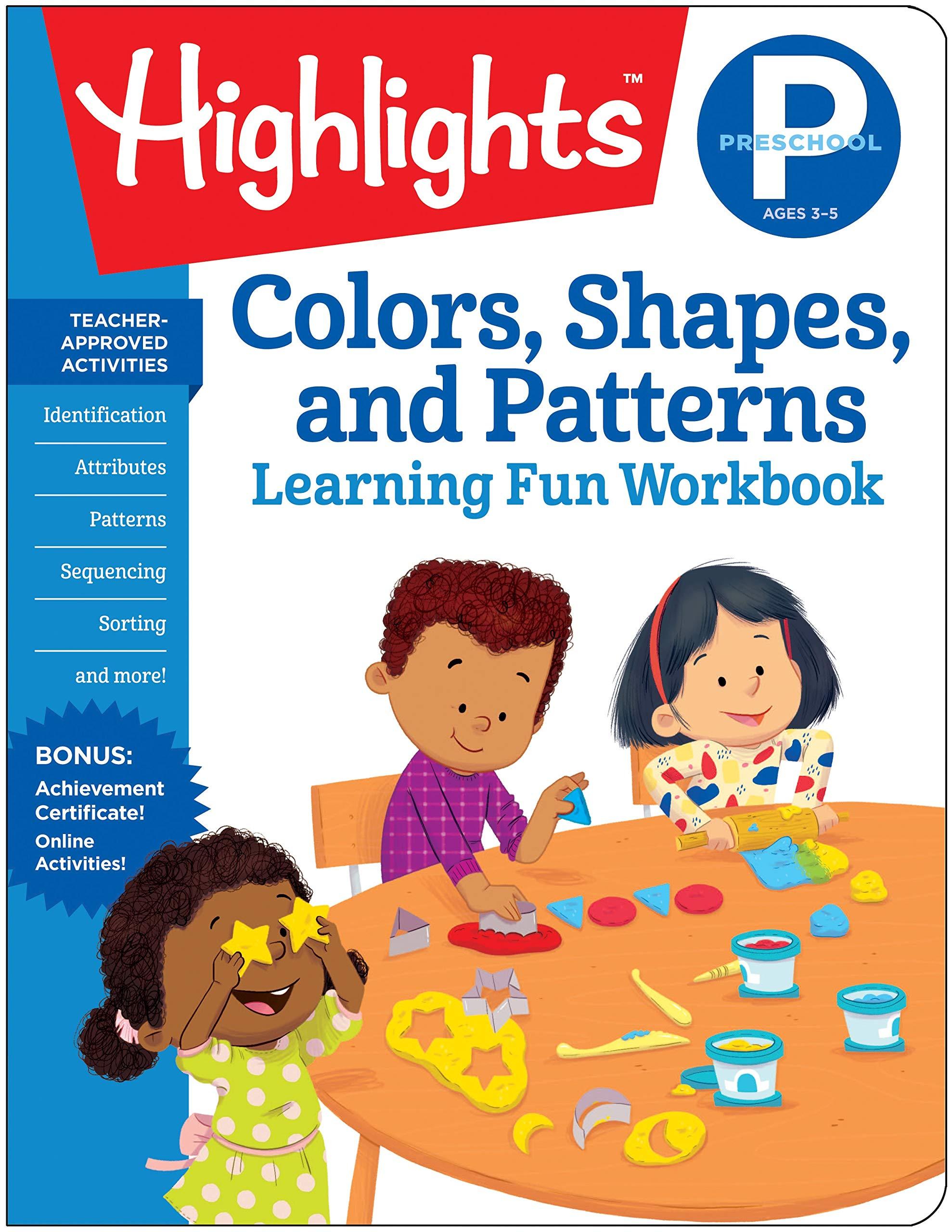 Amazon Com Preschool Colors Shapes And Patterns Highlights Tm