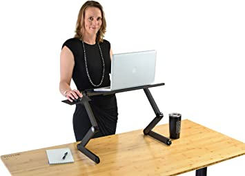 Adjustable Folding Laptop Standing Desk For Bed Macbook Holder Raiser Mouse Tray