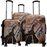 Karriage-Mate Hardside Expandable Luggage with Spinner Wheels, Combination Lock (Paris)