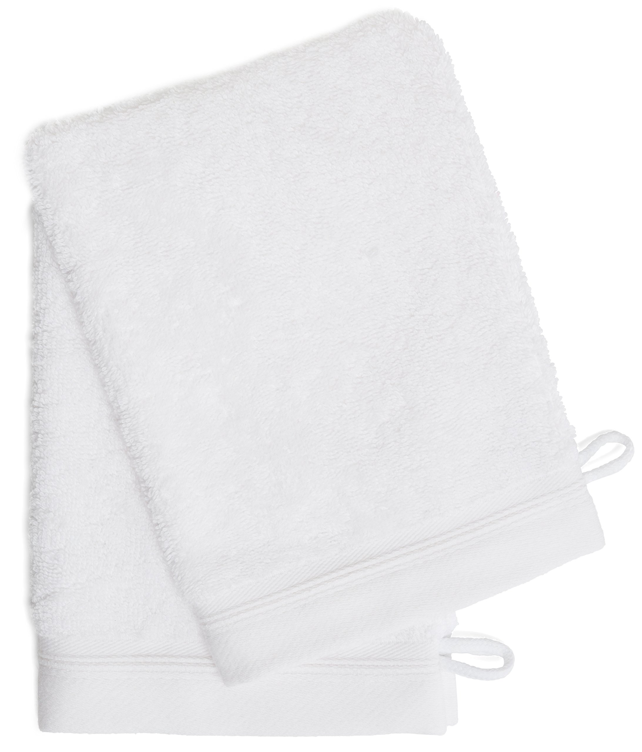 France Luxe Body French-Style Bath Mitt 2-Pack - White/White by France Luxe