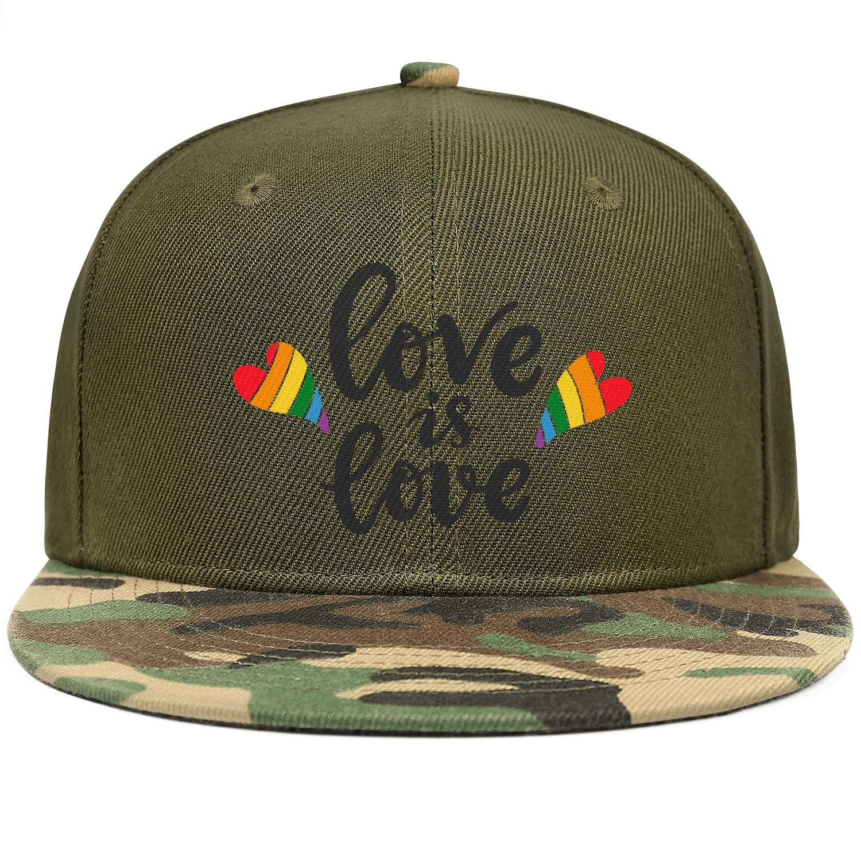 Love is Love Slogan Gay Poster Unisex Baseball Cap Ultra Thin Snapback Hats Adjustable Trucker Caps Dad-Hat