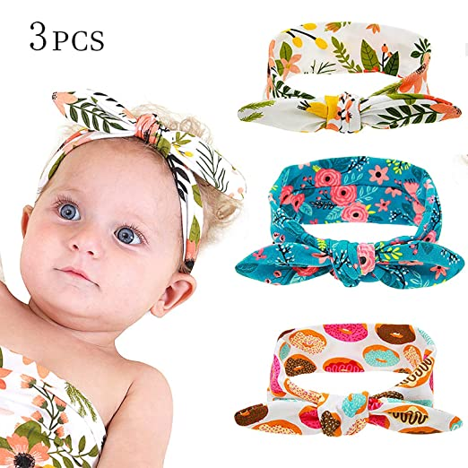 Baby Headband Unicorn Horn Flowers Girls Ribbon Hair Bands Headwear Hair Elastic Tiara For Girl Newborn Babies Hair Accessories Home