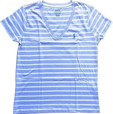Polo Ralph Lauren - Camiseta con cuello en V para mujer - - Small ...