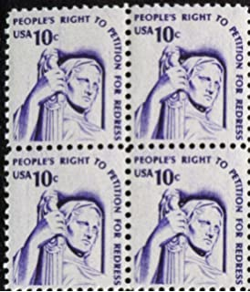 Right To Petition For Redress Set Of 4 X 10 Cent US Postage Stamps Scot 1592