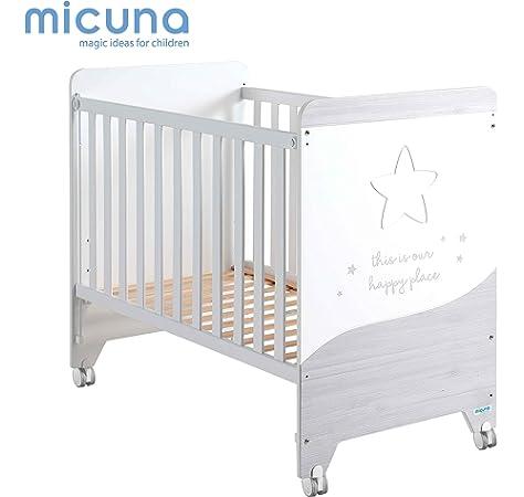 Cuna 60 x 120 Cosmic Blanco/Ceniza de Micuna: Amazon.es: Bebé