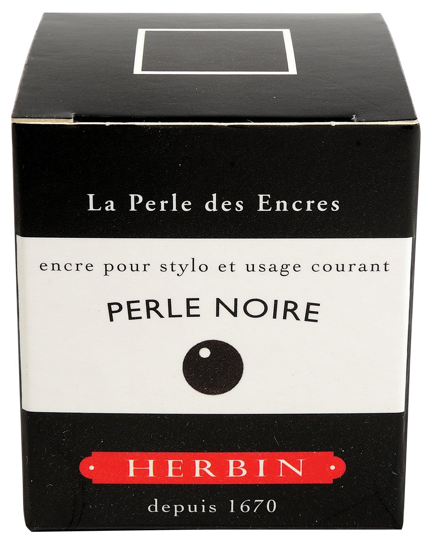J Herbin Black 30ml Bottled Ink