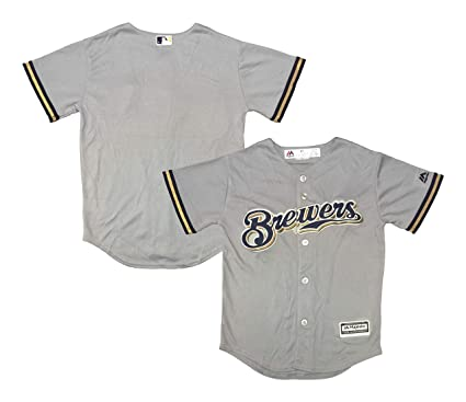 Road Gray com Cool Jersey Youth Blank Replica Milwaukee Clothing Brewers Base Amazon efbdecaaabffad|Green Bay Packers License Plate