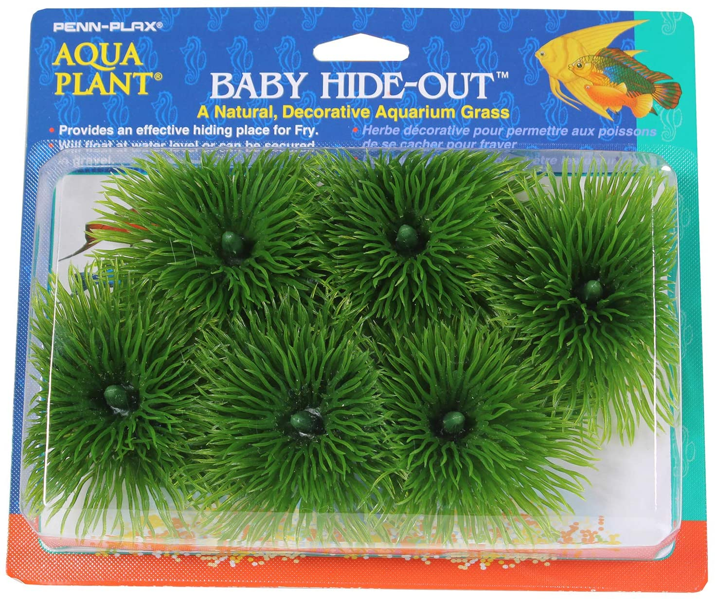 B0002565KM Penn Plax Fish Breeding Grass – Baby Hideout, Safe Hiding for Fry – Decorative Aquarium Grass 81ZC5AP9kEL