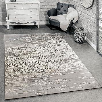 Paco Home Designer Teppich Wohnzimmer mit Moderne Ornamente Muster ...