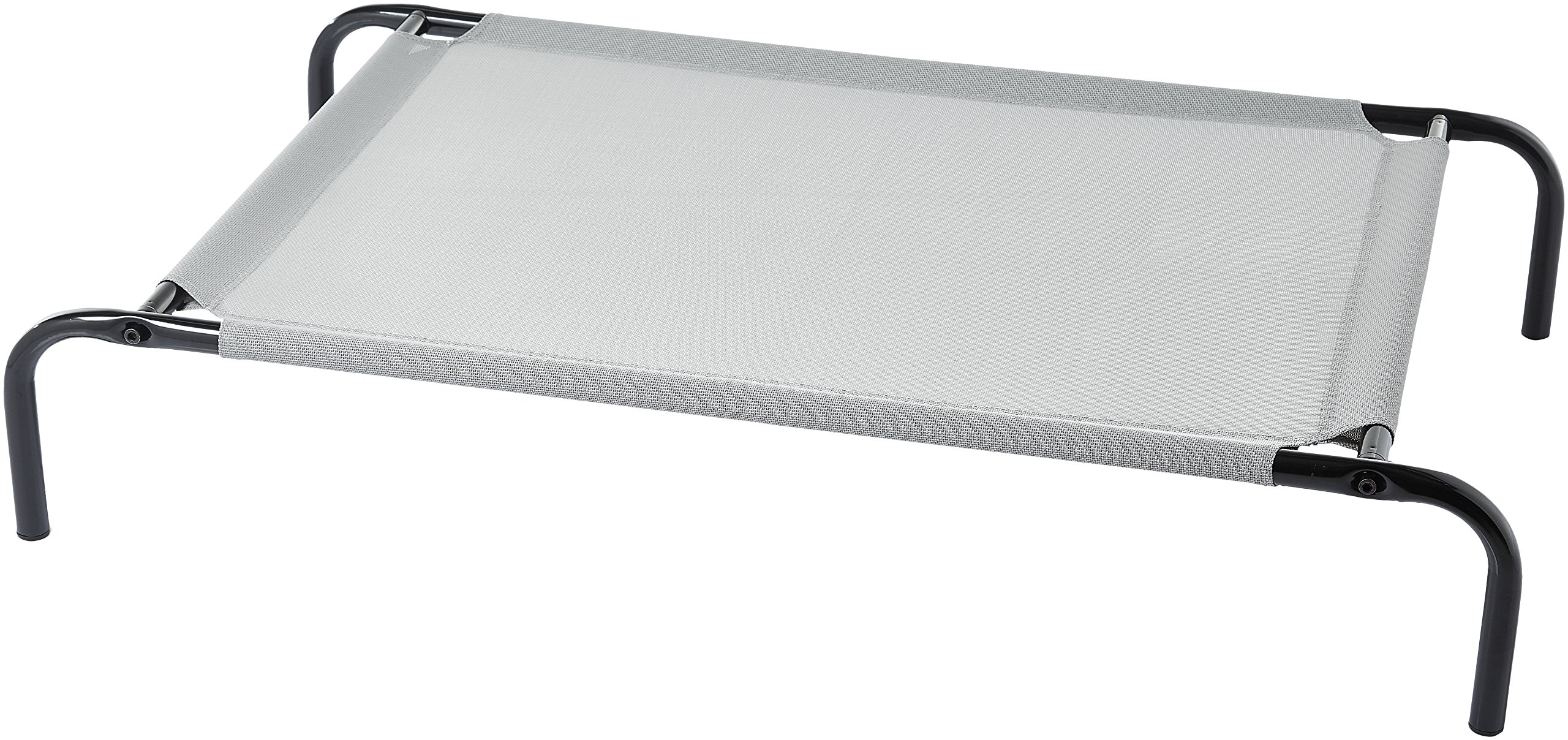 AmazonBasics Cooling Elevated Pet Bed, Medium (43 x 26 x 7.5 Inches), Grey