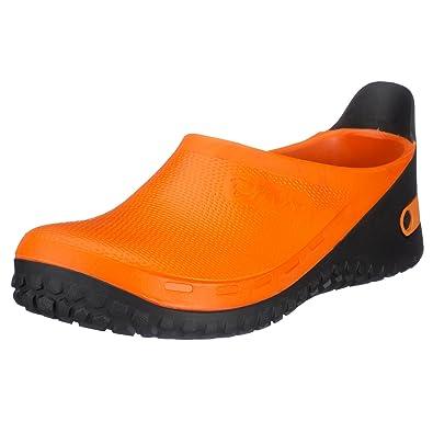 Birkis Active-Birki Kunststoff-Clogs orange Alpro-Schaum Weit