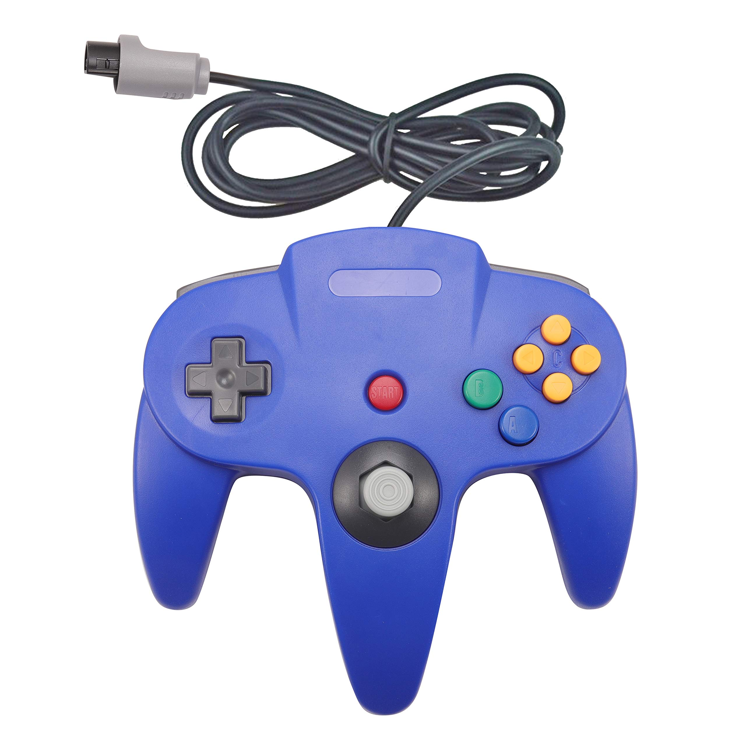 Joxde 1 Pack Upgraded Joystick Classic Wired Controller for N64 Gamepad Console (Blue2)
