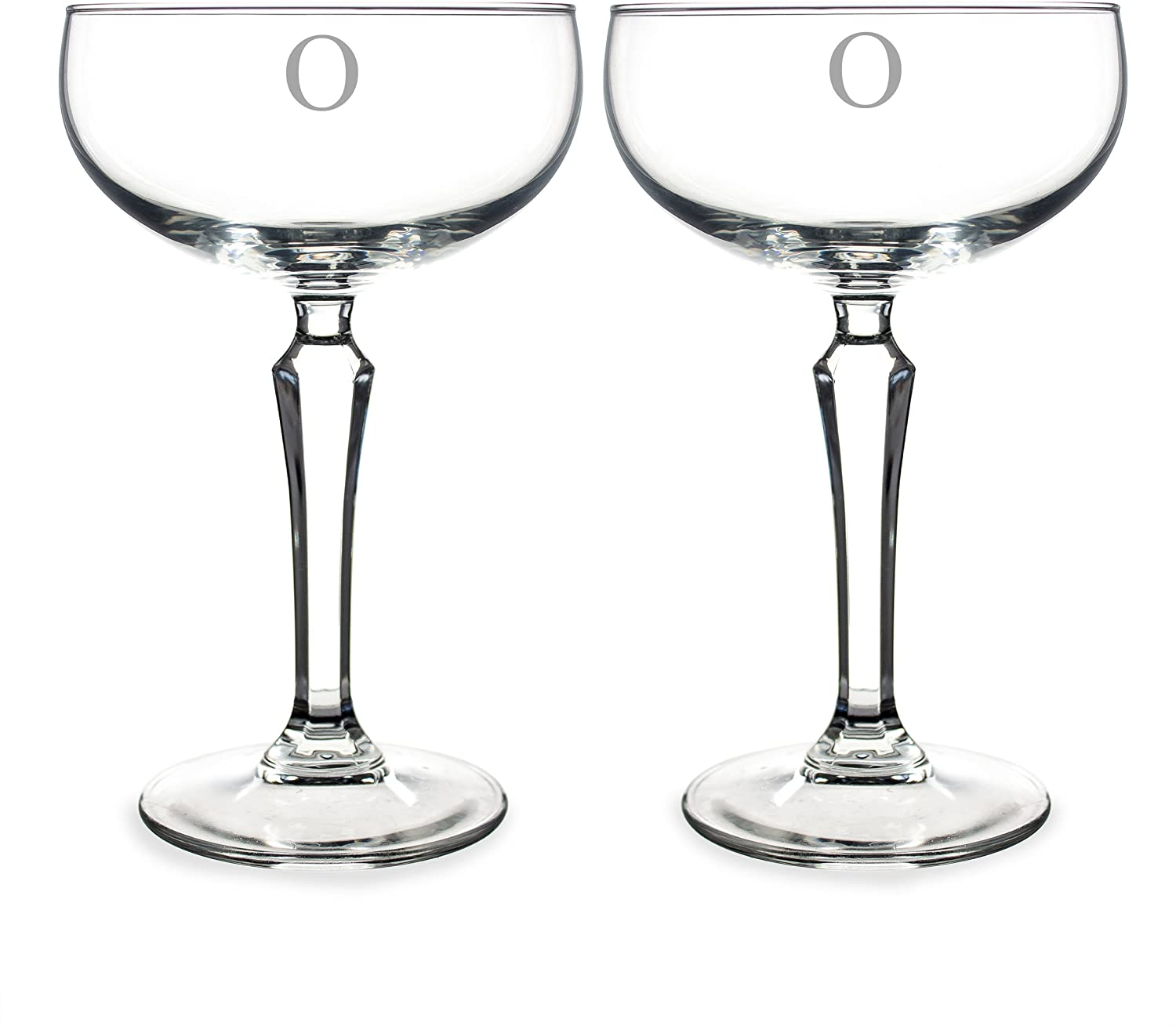 Cathy's Concepts Personalized Champagne Coupe Toasting Flutes