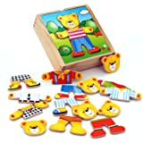 Viga Wooden Dress Up Bear Box Set