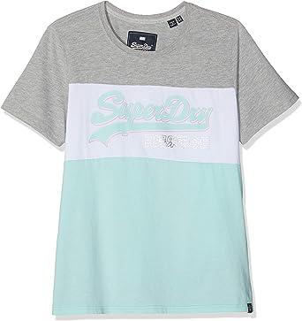 Superdry Vintage Logo Colour Block Entry tee Camiseta para Mujer: Amazon.es: Ropa y accesorios